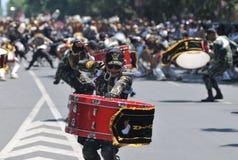 Fanfare de police de l'Indonésie Images libres de droits