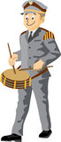 Fanfare drummer Royalty Free Stock Photo