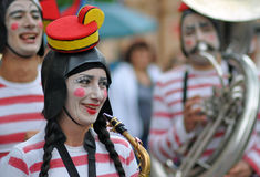 Fanfare girl Stock Photo