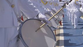Fanfare militaire - tambours banque de vidéos