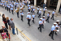 Fanfare parading. Stock Images