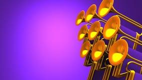 Fanfare On Purple Text Space ilustración del vector