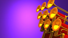 Fanfare On Purple Text Space stock footage