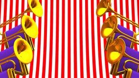 Fanfare On Red White Background ilustración del vector