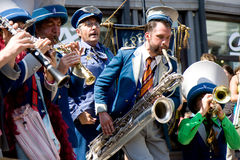 Fanfare in street show Stock Photo