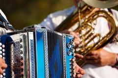 Fanfarekorps in Beieren stock foto's
