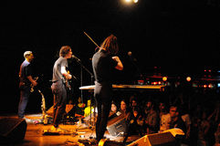 Fanfarlo-Band führt bei Apolo durch Stockfotos