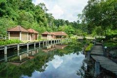 Fang Hot Spring i Chiang Mai, Thailand Arkivbilder