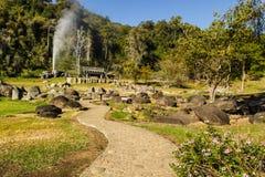Fang Hot Springs(Mae Fang National Park). Mon Pin, Fang, Chiangmai,Thailand Royalty Free Stock Photos