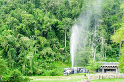 Fang Hot Springs Thailand Arkivfoton