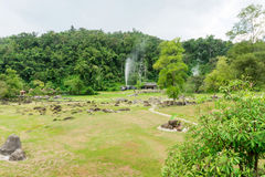 Fang Hot Springs trädgård Fotografering för Bildbyråer