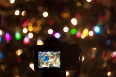 Fangen der Weihnachtsstimmung Lizenzfreie Stockfotos