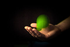 Fangen eines Tennisballs Stockbilder
