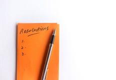 Fangen Sie an, an Beschlüsse des neuen Jahres zu denken Lizenzfreies Stockbild