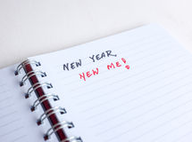 Fangen Sie an, an Beschlüsse des neuen Jahres zu denken Stockbilder
