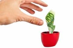 Fangen Sie das Geld ab Stockfotos