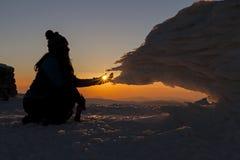 fangen Sie den Sonnenuntergang Lizenzfreies Stockbild