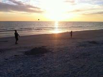 fangen Sie den Sonnenuntergang Lizenzfreie Stockfotografie