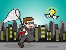 Fangen Sie diese glänzende Geschäfts-Idee Lizenzfreies Stockbild