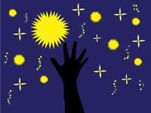 Fangen Sie einen Stern ab Stockfoto
