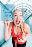Fangen Sie an, jetzt zu kaufen! Stockbilder