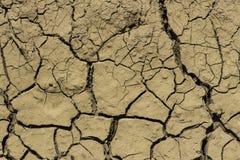 Fango agrietado seco Imagen de archivo libre de regalías