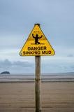 Fango d'affondamento del pericolo Fotografia Stock Libera da Diritti