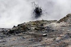 Fango de ebullición en el sitio geotérmico Fotos de archivo