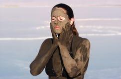 Fango del mar muerto Foto de archivo