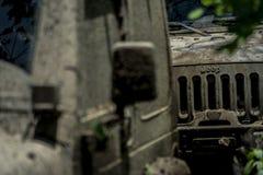 Fango della corsa del wrangler del gruppo della jeep Fotografie Stock