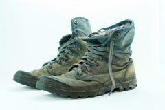 Fango delle scarpe di tela sporco Fotografia Stock