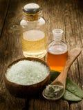 Fango ed olio dei minerale del bagno Immagini Stock