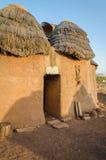Fango tradizionale un alloggio dell'argilla della tribù di Tata Somba del Benin e del Togo del Nord, Africa Fotografie Stock