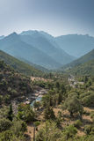 Fango valley in Corsica with mountains in background Stock Photography