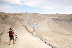 Fango Volcano Hiking immagini stock libere da diritti
