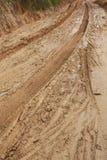 Fangoso mojado del camino Fotos de archivo