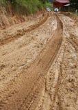 Fangoso mojado del camino Imagen de archivo libre de regalías