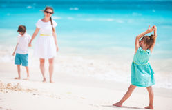 Fanily beach vacation Royalty Free Stock Photography
