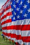 Fanion de drapeau américain images stock