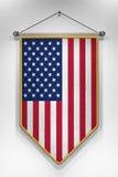Fanion de drapeau des Etats-Unis Images libres de droits