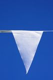 Fanion triangulaire blanc Photographie stock