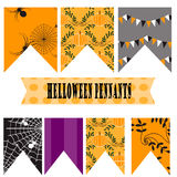 Fanions de Halloween Photos stock