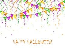 Fanions et flammes de Halloween Photo libre de droits
