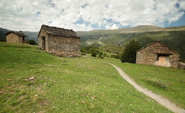 Fanlo homes. Fanlo houses, Aragonese Pyrenees, spain Stock Image