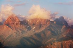 Fann Mountains royalty-vrije stock foto