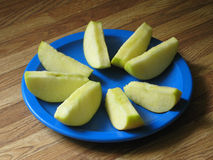 Fanned Apple Slices Stock Photo