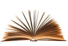 Fanned book over white Royalty Free Stock Image