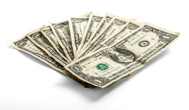 Fanned a employé des billets d'un dollar un Photos stock