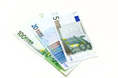 Fanned Euro notes Stock Images