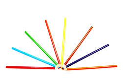 Fanned out color pencils. Stock Image
